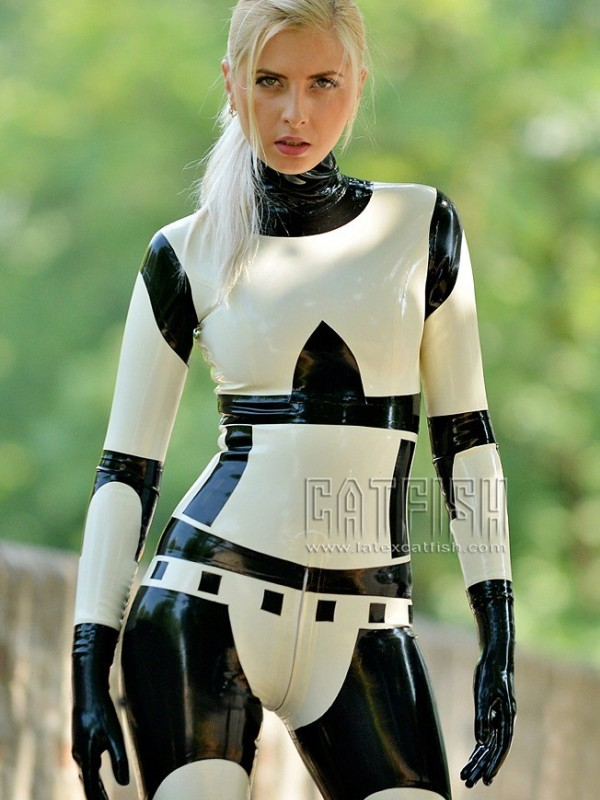 Latex Catsuit CF-CANV14011B
